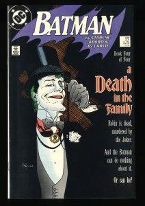Batman #429 NM+ 9.6 Death in the Family! Joker Cover!