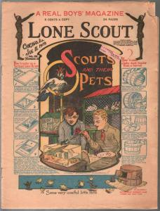 Lone Scout Vol. 8 #12 1/11/1919-A Real Boy's Magazine-5¢ cover price-VG