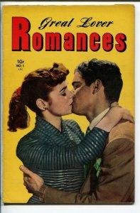 GREAT LOVER ROMANCES #1 1951-TOBY-1ST ISSUE-ALEX SCHOMBURG-vf minus