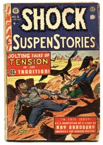 Shock SuspenseStories #9 comic book 1953 EC Eaten by vultures