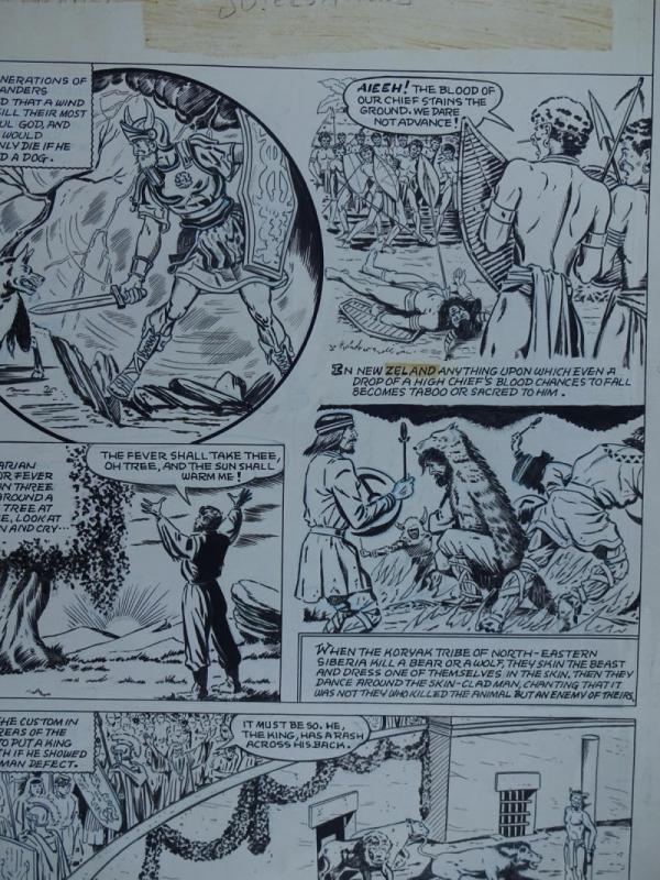 TOM HICKEY (attrib) original art, WITCHES TALES #3, Strange Superstitions,1951