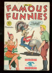 FAMOUS FUNNIES #136 1945-HEADLIGHT COVER-BUCK ROGERS FN