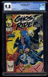 Ghost Rider (1990) #5 CGC NM/M 9.8 White Pages
