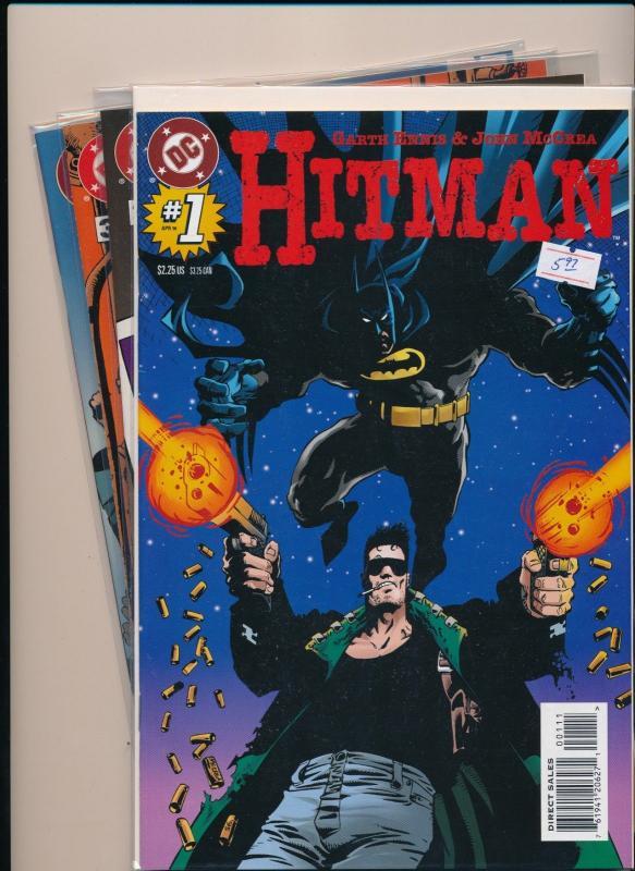 DC Comics LOT of 4 Garth Ennis & John McCrea HITMAN #1-3,10 VF/NM (PF25)