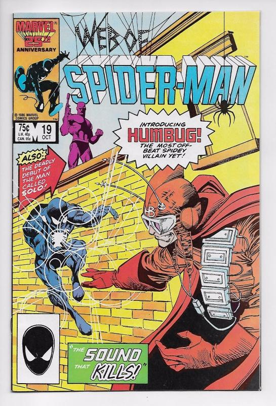 Web of Spider-Man #19 - 1st Appearance of Solo & Humbug (Marvel, 1986) - VF/NM