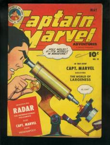 CAPTAIN MARVEL ADVENTURES #35-1944-RADAR ORIGIN-FAWCETT VF-