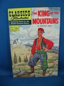 CLASSICS ILLUSTRATED 127 KING OF THE MOUNTAIN F+ HRN 128 FIRST PRINT 1955