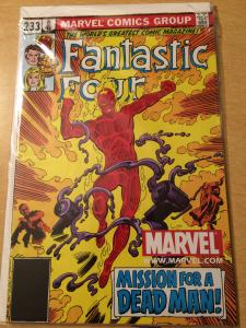 Fantastic four #233 originally came with marvel legends human torch figure