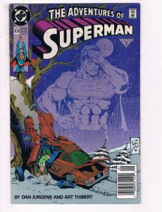 The Adventures Of Superman #474 VF DC Comics Comic Book Jurgen JLA Jan 1991 DE24