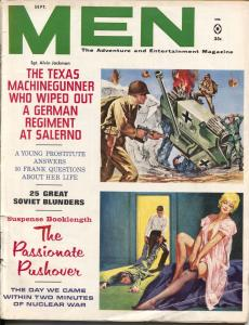 Men 9/1962-Atlas-Nazi tank cover-WWII-pulp adventure-cheesecake-VG