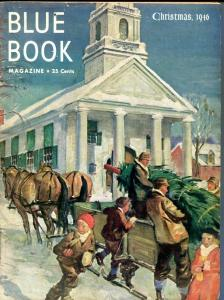 BLUE BOOK PULP-DEC-1946-G/VG-COVER ART BY STOOPS-CHRISTMAS-BEDFORD-JONES G/VG
