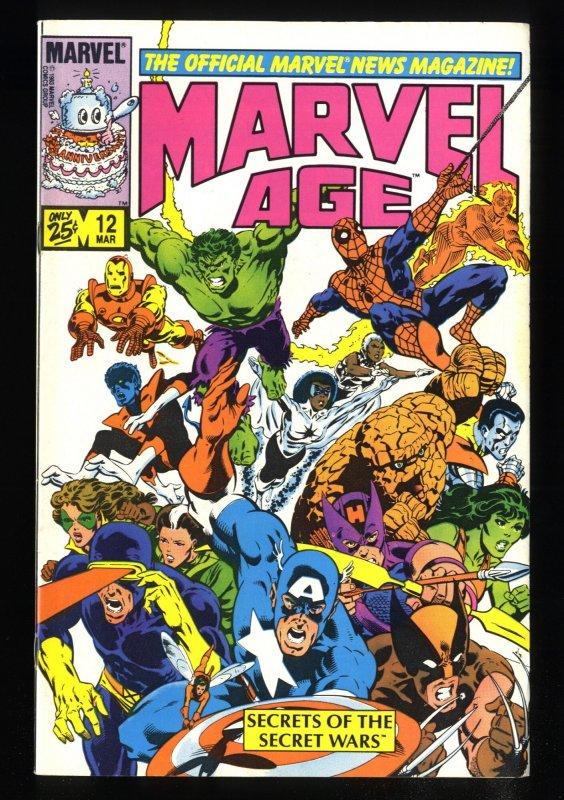 Marvel Age #12 VF/NM 9.0 1st Black Costume Spider-Man!