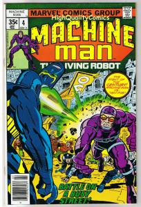 MACHINE MAN #4, VF, Jack Kirby, Living Robot, 1978, more JK in store