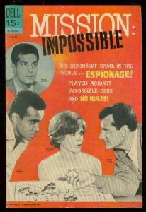 MISSION IMPOSSIBLE #5 1969-DELL COMICS-TV PHOTO COVER VG