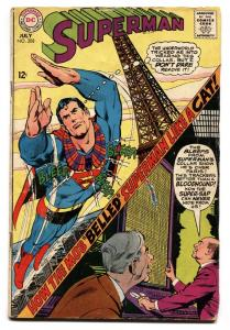 SUPERMAN #208 1968- DC Silver Age-Eiffel Tower VG-