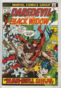 Daredevil #95 (Jan-73) NM- High-Grade Daredevil, Black Widow