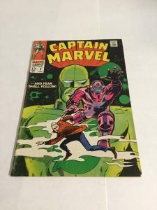 Captain Marvel 8 Vg/Fn Very Good/Fine 5.0 Marvel Comics Silver Age