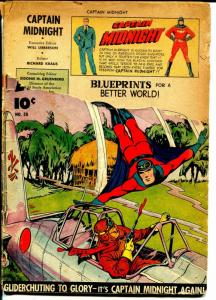 Captain Midnight  #28 1945-Fawcett-WWII era issue-P/FR