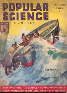Popular Science 1/1937-Edgar F Wittmark-pulp thrills-La Brea-VG