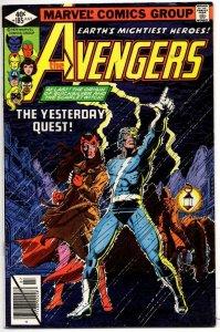AVENGERS #185, FN, Origin of QuickSilver Scarlett Witch, 1963 1979, more in stor