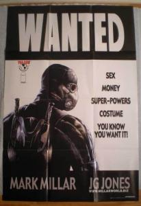 WANTED Promo poster,Movie, JG Jones, 24x36, 2003, Unused, more Promos in store