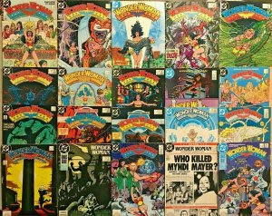 WONDER WOMAN#1-26 VF LOT 1987 (20 BOOKS) GEORGE PEREZ DC COMICS