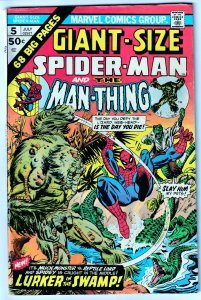 GIANT SIZE SPIDERMAN # 5     Spidey vs The Man Thing