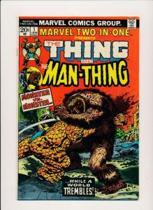 Marvel THE THING & THE MAN-THING Vol 1. #1 Jan 1974 FINE (PF429)