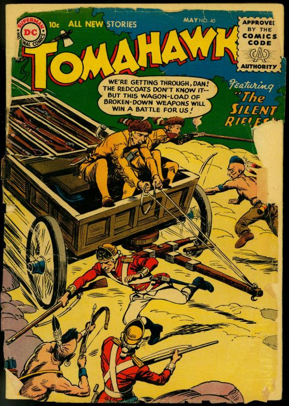 Tomahawk #40 1956- DC Western- Low grade copy
