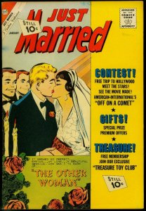 Just Married #23 1962- Spicy Romance Charlton Comic- Other Woman VF