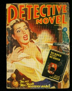 Detective Novel March 1947- Thrilling Pulp- Mr & Mrs North-  Violent cover-