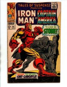 Tales of Suspense #95 - Captain America - Iron Man vs Gargoyle - 1967 - VG/FN