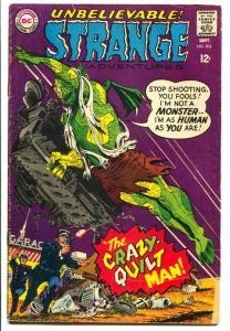 STRANGE ADVENTURES #204 1967-CRAZY QUILT MAN-DC G/VG