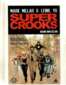 SUPER CROOKS Complete Marvel Icon Comic Books # 1 2 3 4 Mark Millar Yu RP4