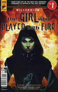 Millennium: The Girl Who Played with Fire #1A VF; Titan | save on shipping - det