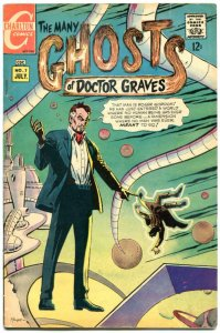 MANY GHOST of DOCTOR GRAVES #7, VG/FN, Ditko,Horror, 1967,more Charlton in store