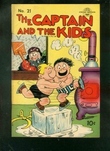 CAPTAIN AND THE KIDS #21 1951-KATZENJAMMER KIDS-R DIRKS VG