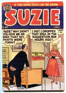 Suzie #87headlight cover-1952-Archie-spicy Good Girl Art-Katy Keene