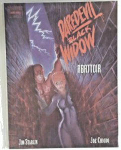 Daredevil Black Widow Abattoir 1993 Jim Starlin Chiodo Marvel Graphic Novel  NM-