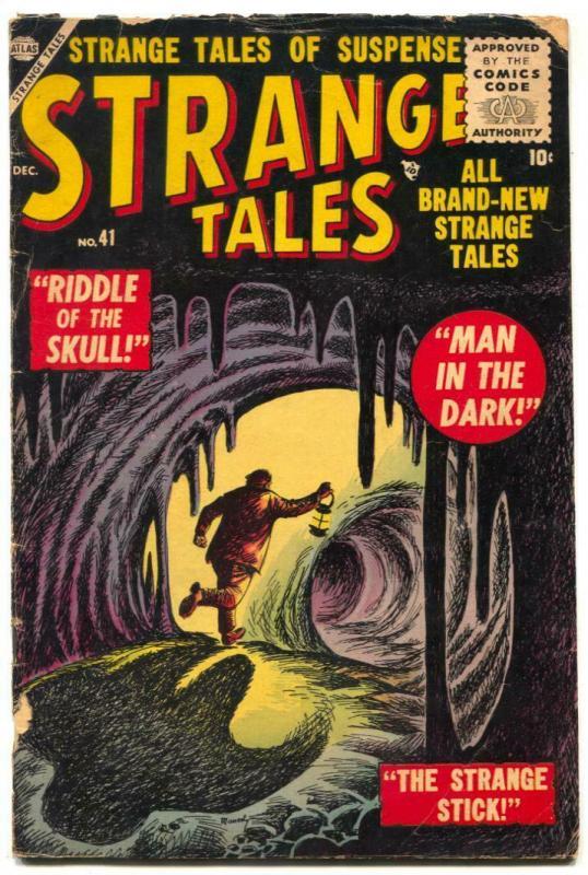 Strange Tales #41 1955- Riddle of the Skull- Atlas horror comic VG