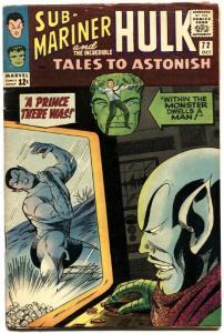 TALES TO ASTONISH #72-HULK/SUBBY-nice copy-MARVEL-SILVER-AGE