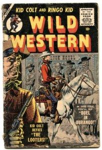 Wild Western #51 1956- Atlas- Ringo Kid- Kid Colt G-