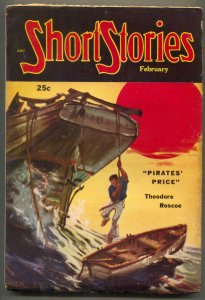 Short Stories Pulp February 1952- Pirates Price FN-