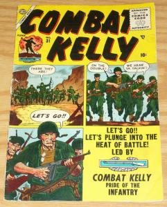 Combat Kelly #31 VG- june 1955 - atlas comics - russ heath cover  golden age war