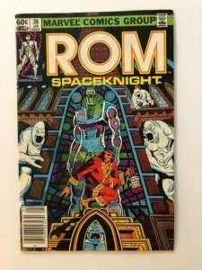 MARVEL ROM Spaceknight #38 Newstand Variant FINE- (A73)