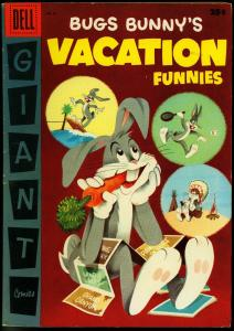 BUGS BUNNY'S VACATION FUNNIES #6-GIANT 1956 FN/VF