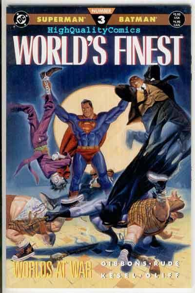 WORLD'S FINEST #3, NM+, Superman, Batman, Lex Luthor, 1990, more in store