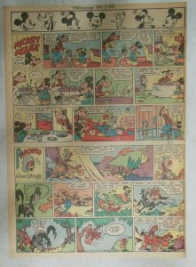 Mickey Mouse Sunday Page by Walt Disney from 4/15/1945 Tabloid Page Size