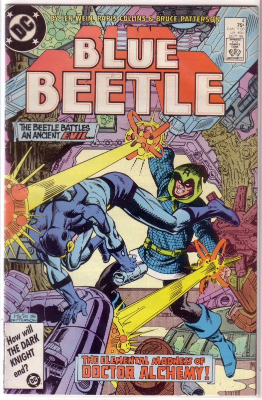 Blue Beetle   (DC vol. 1)   # 4 VG Wein/Collins, Dr. Alchemy