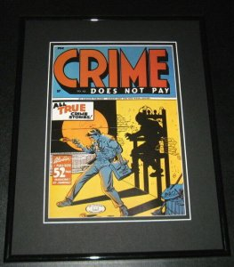 Crime Does Not Pay #42 Framed Cover Photo Poster 11x14 Official Repro